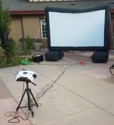 Party Size Movie Screen