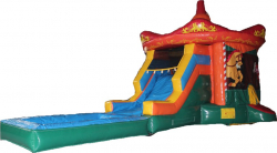 Carousel Combo with Water Slide and Pool