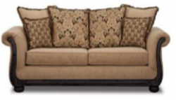 Taupe Chenille Couch