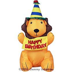 Happy Birthday Lion Banner