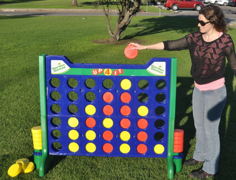giant connect four game a bouncy bear