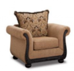 Taupe Chenille Armchair
