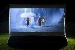 Backyard Movie Night - 12ft screen.
