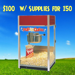Popcorn Machine for 150