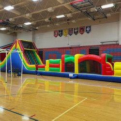 72 1619657606 72' Obstacle Course w/slide