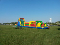 72 1619793219 72' Obstacle Course w/slide