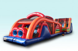 75 1619790623 75' Obstacle Course w/Rockwall