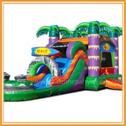 Maui Water Bounce and Slide w/pool