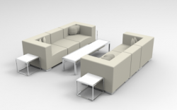 Lounge Package - Mondrian - 10 x 10 - White