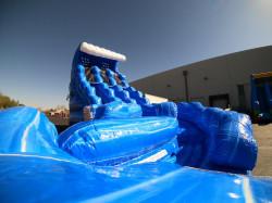 20ft Blue Hurricane Curve Water Slide