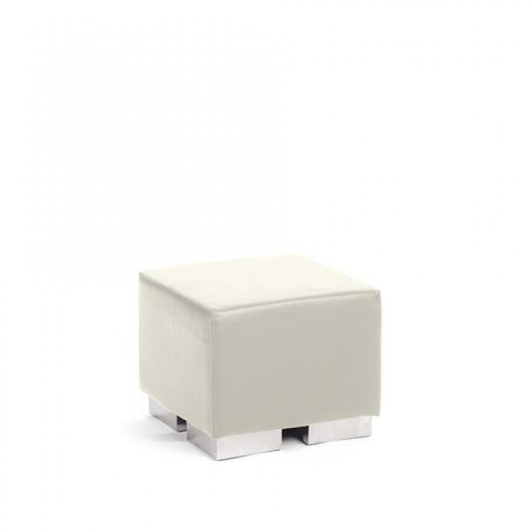 Ottoman - White - Cube