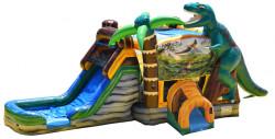 Dinosaur World Water Bouncer Combo - Wet