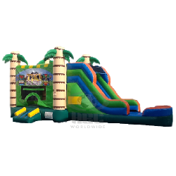 Tropical Water Combo with Side Slide - Wet
