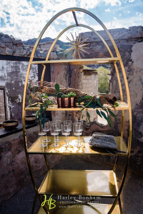 Ellipse Bar Back - Gold
