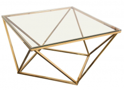 Coffee Table - Gem - Gold Frame