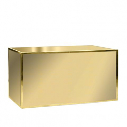 Bar - 6ft Staight - Gold Frame, Gold Front / White top
