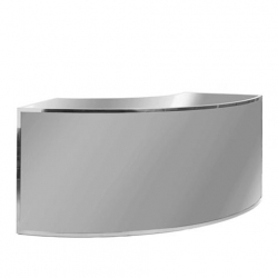 Bar - 1/4 Curve - Mirror Front, Stainless Steel Frame