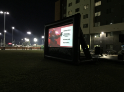 Inflatable Movie Screen - 16ft x 9ft Viewable Screen