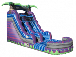 16ft Purple Crush Water Slide