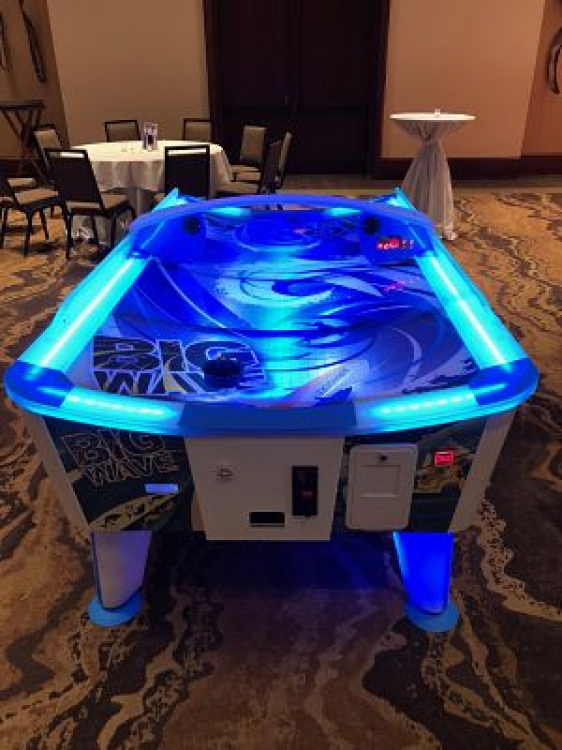 Big Wave Air Hockey Table (Curved Top)