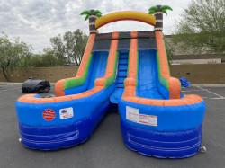 15ft Tropical Splash Double Lane Water Slide