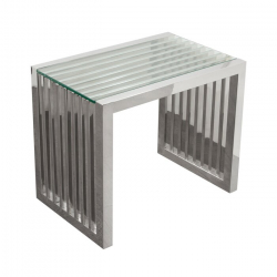 Side Table - Soho - Polished Silver