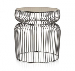 Side Table - Spoke - Black