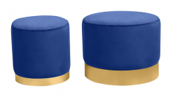 Ottoman Set - Wee and Stout - Sapphire
