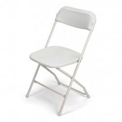 Folding Chair - White Polyfold