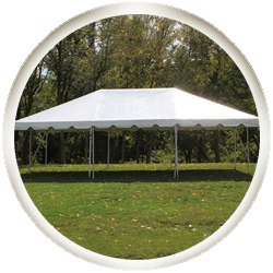 20' Frame Tent Cathedral Window Sidewall