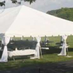 10x20 Frame Tent Leg Drape