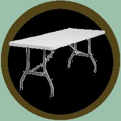 Rectangular Folding Table - 6'