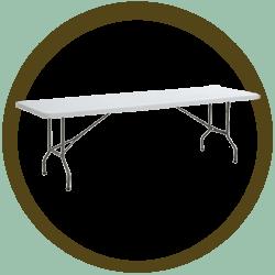 Rectangular Folding Table - 8'