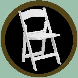 Resin White Folding Chair w/pad
