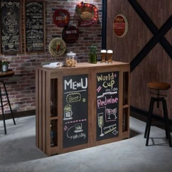 Wood Bar with Chalkboard