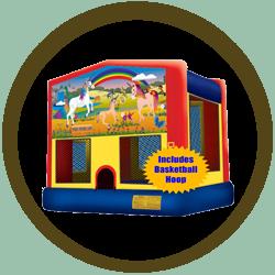 Horse Fantasyland Jump w/Hoop