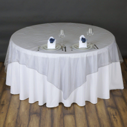 Round Table Overlay - Silver