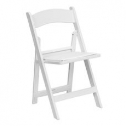 Resin White Folding Chair w/pad