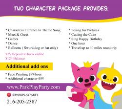2 Mascot Characters