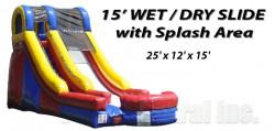 15' Water Slide with Splash Area