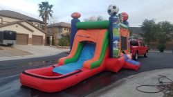 Spors Arena Bounce Souse with Waterslide and Pool
