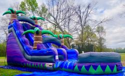 18' Purple Crush Water Slide with pool