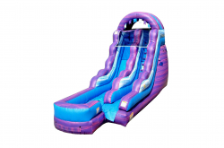 15' Cotton Candy Waterslide w/pool
