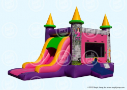 Single lane Princess Bouncer slide Combo dry