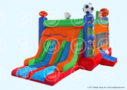 Sports Bouncer double Slide Combo dry