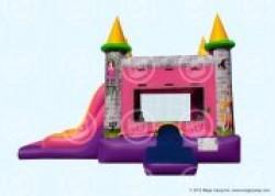 Single Lane Princess bouncer Slide Combo Dry no pool