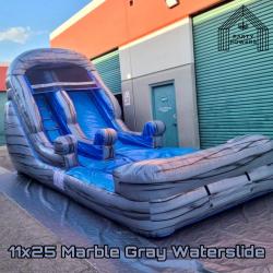 11x25 Marble Gray Waterslide 11x25 Water Slide