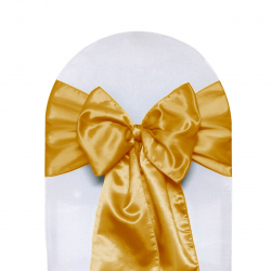 Gold Chair Bows (Satin)