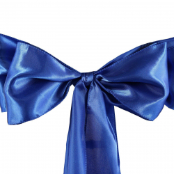 Royal Blue Chair Bow (Satin)