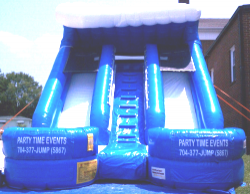 15' DOUBLE LANE SLIDE (DRY)